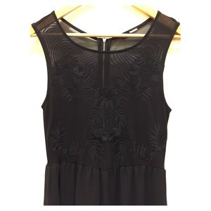 GORGEOUS SHEER CUT OUT DRESS W/ EMBROIDERED DETAIL